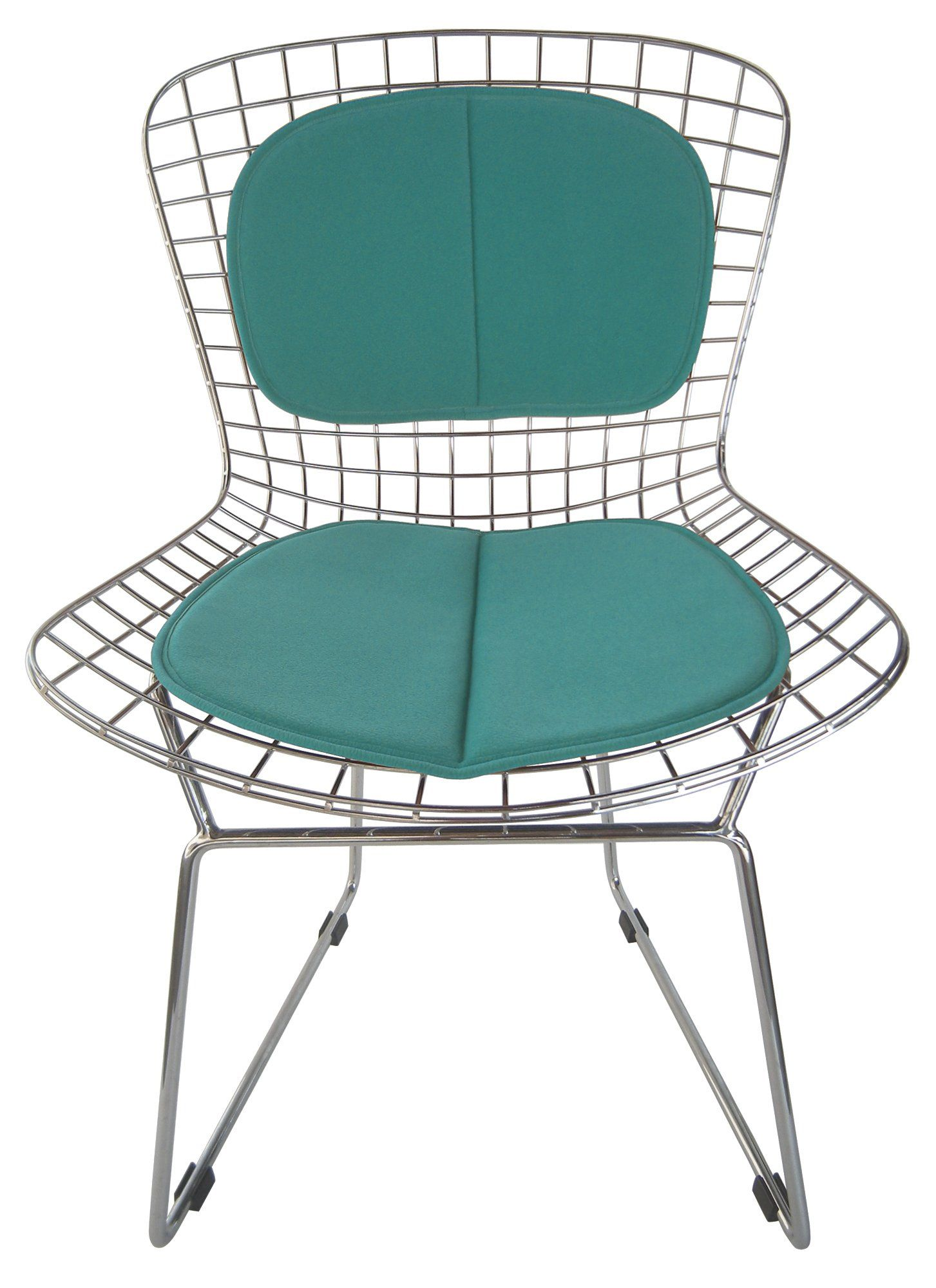 amazon: seat pad and back rest for bertoia wire chair (miracle