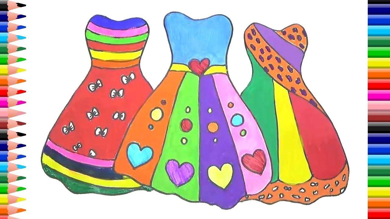 Cómo Dibujar Vestidos, Ropa Para Niñas, Colorear Para