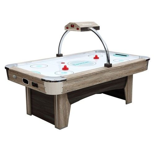 Harvil Beachcomber 84 Inches Air Hockey Table With Overhead Scorer Silver Air Hockey Air Hockey Table Indoor Air