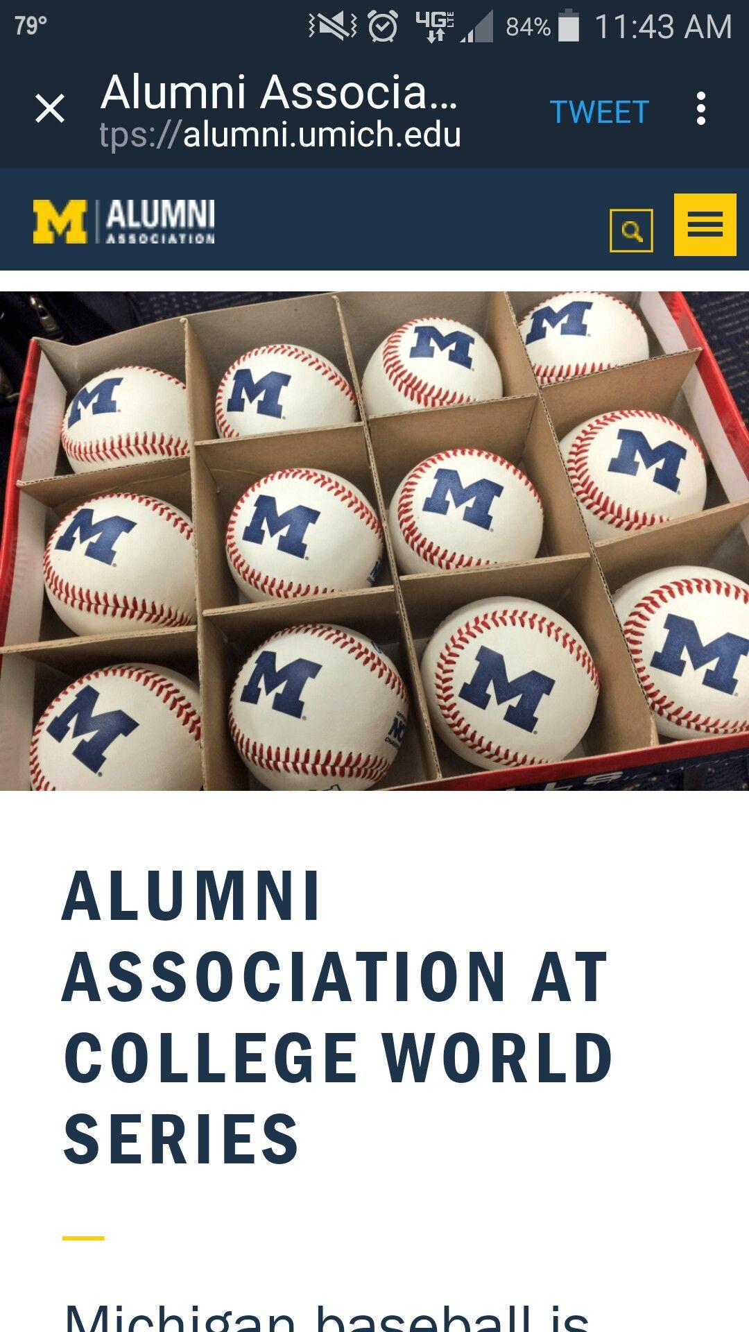 Pin By Eric On Michigan Baseball College World Series Alumni Association Michigan