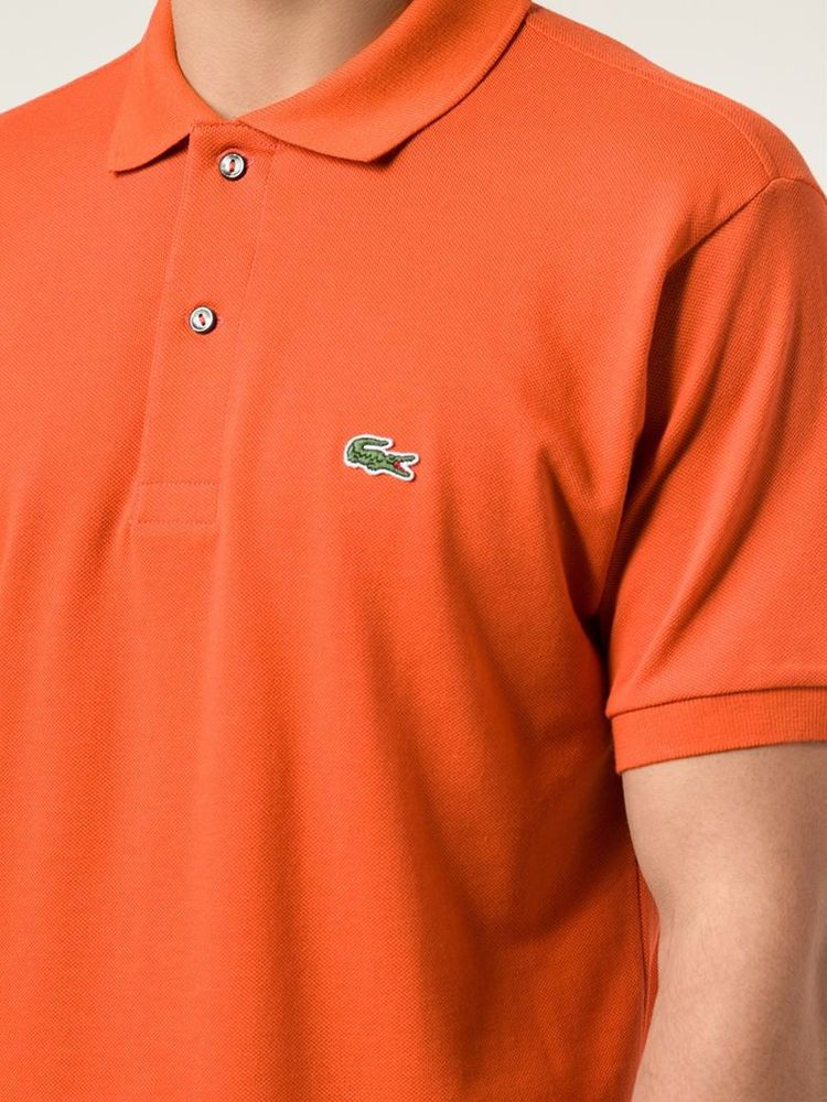 025746680 LACOSTE Polo SHIRT Orange 3 MENS Size SMALL Sz COTTON Logo 5191L Devanlay  CROC    Lacoste  PoloRugby