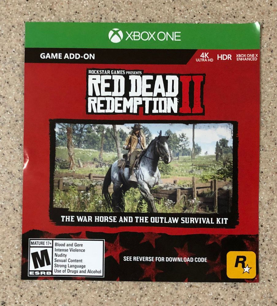Red Dead Redemption 2 War Horse / Outlaw Kit DLC Code Xbox