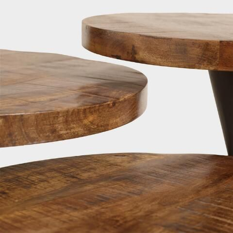 Wood And Metal Multi Level Coffee Table.Wood And Metal Multi Level Coffee Table By World Market Interior