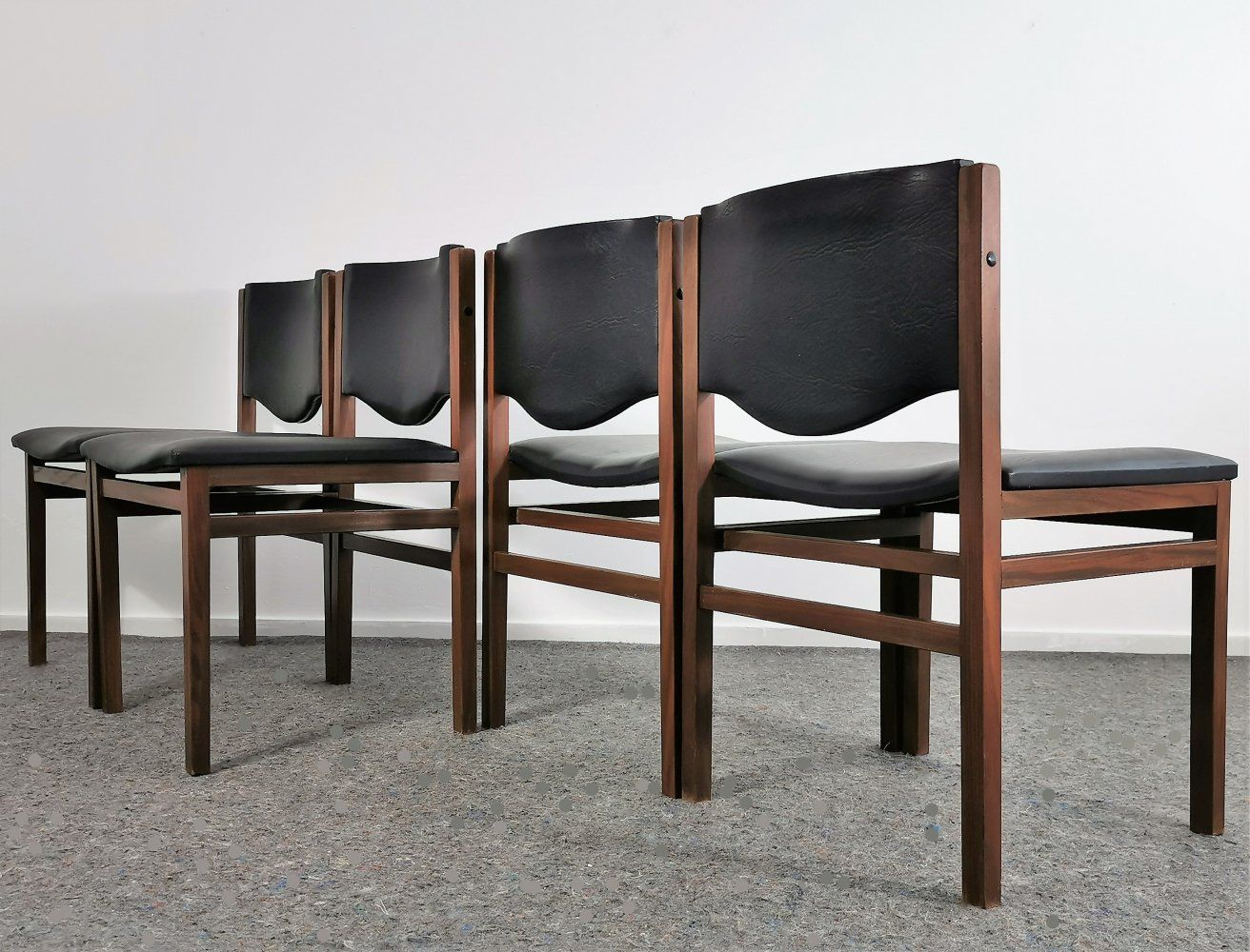 For Sale Set Of Four Dutch Teak Dining Chairs 1960 S