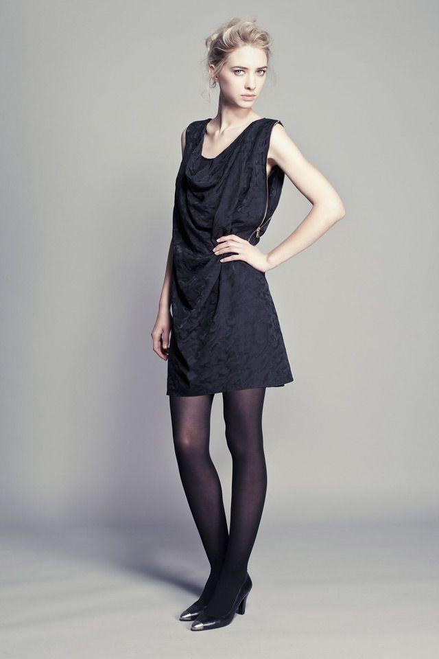 Ikks look black dress fall winter 2013 2014