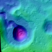 The origin of Rima Prinz I, taken by Lunar Reconnaissance Orbiter (LRO) Camera, NASA