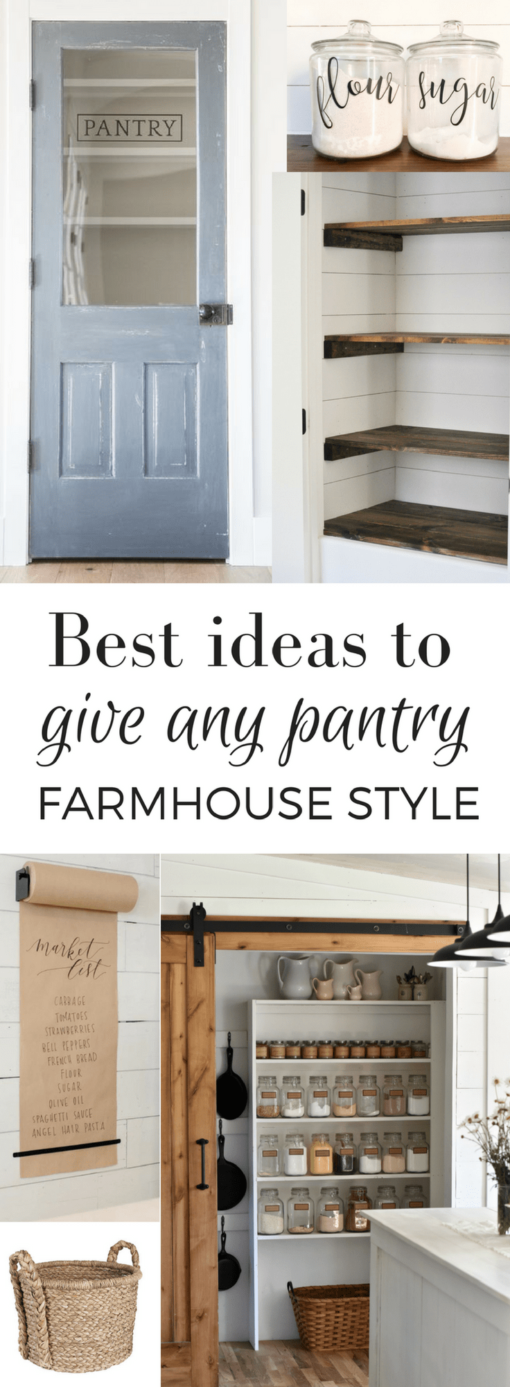 Best ideas to give any pantry farmhouse style farmhouse style