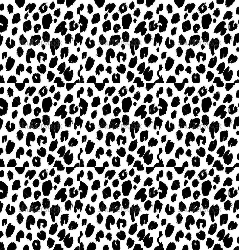 Cheetah Print Black And White Pattern 82e-vector-seamless-bl...