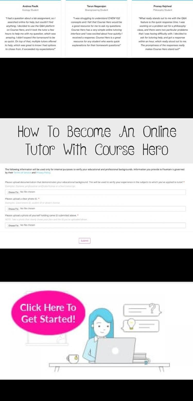 an online tutor with Course Hero and make up to