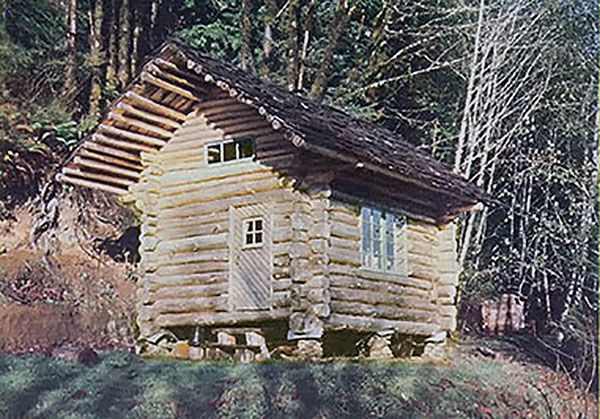 Oregon Couple Builds Norwegian Style Quot Stabbur Quot Log Cabin