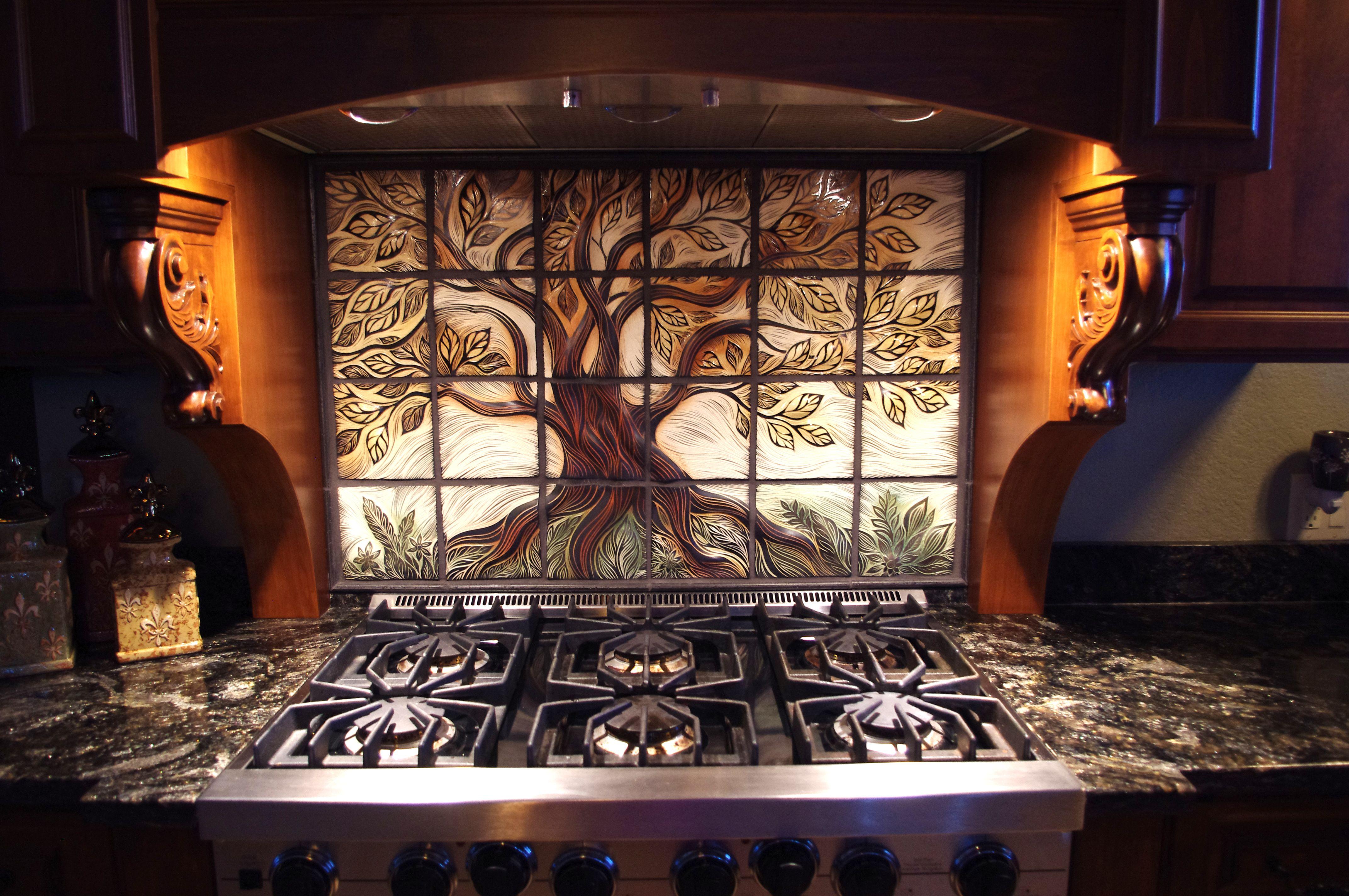 Custom Backsplash Tile Best Home Interior