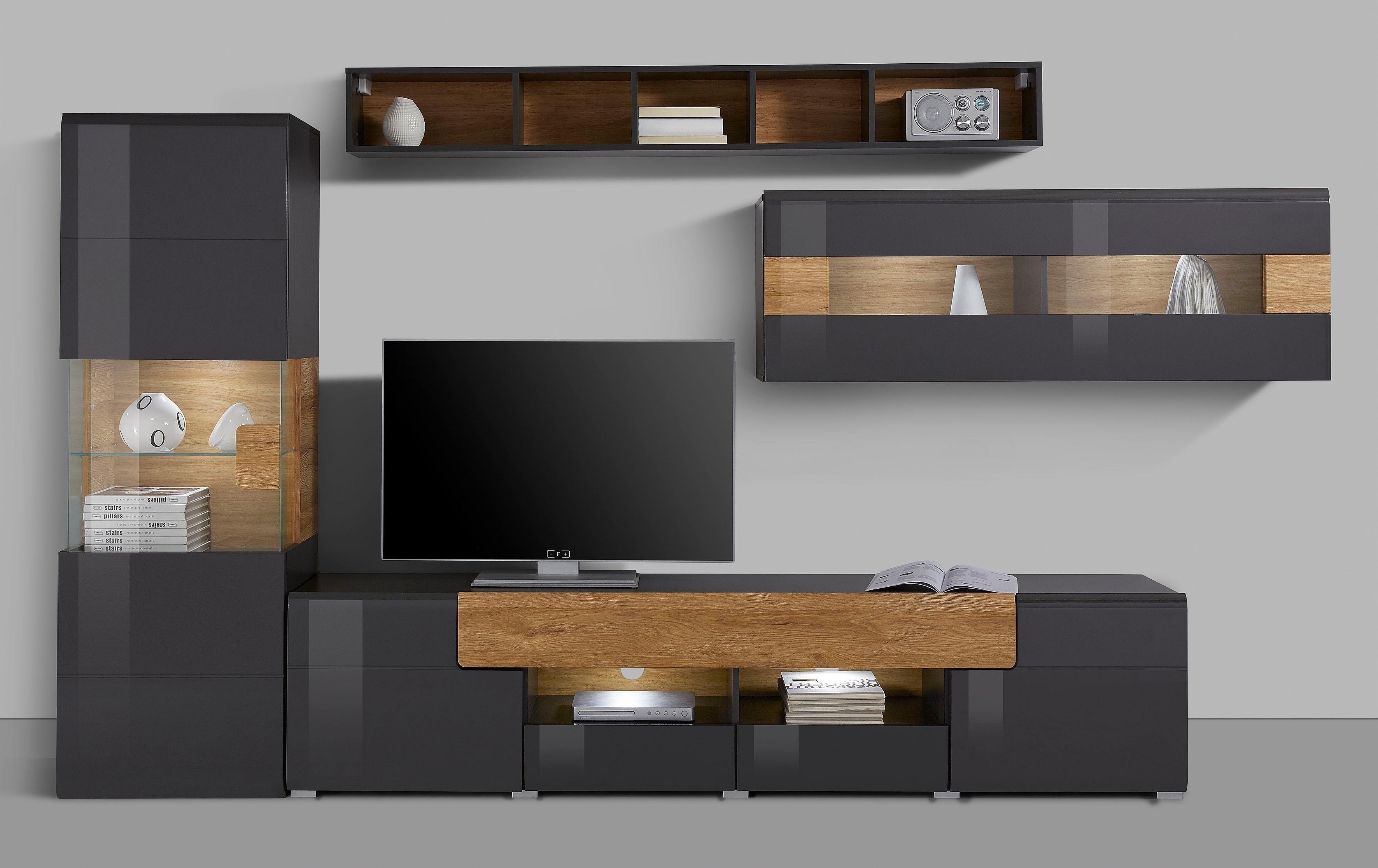 2019的wohnwand Serie Toledo 4 Teilig 客廳 Shelves Ceiling