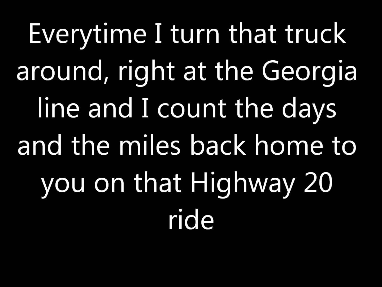 Highway 20 Ride Lyrics Ride Lyrics Zac Brown Band Lyrics