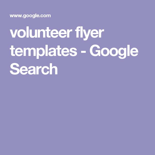 volunteer flyer templates google search pto pinterest school