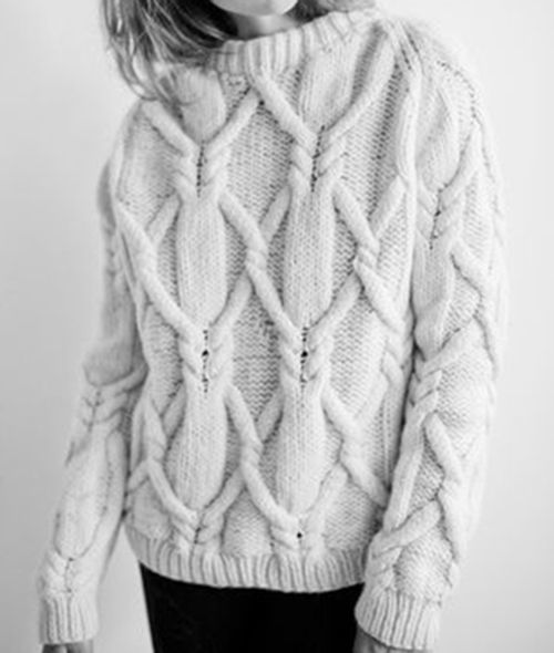 chunky textured knit | LA COOL & CHIC