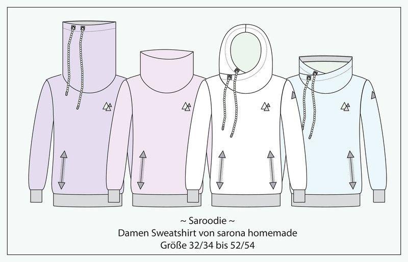 ba2d10e247 Nähanleitungen Mode - Ebook Saroodie - Sweatshirt für Damen Gr. XS-XXXXL -  ein Designerstück von StoffLoft bei DaWanda