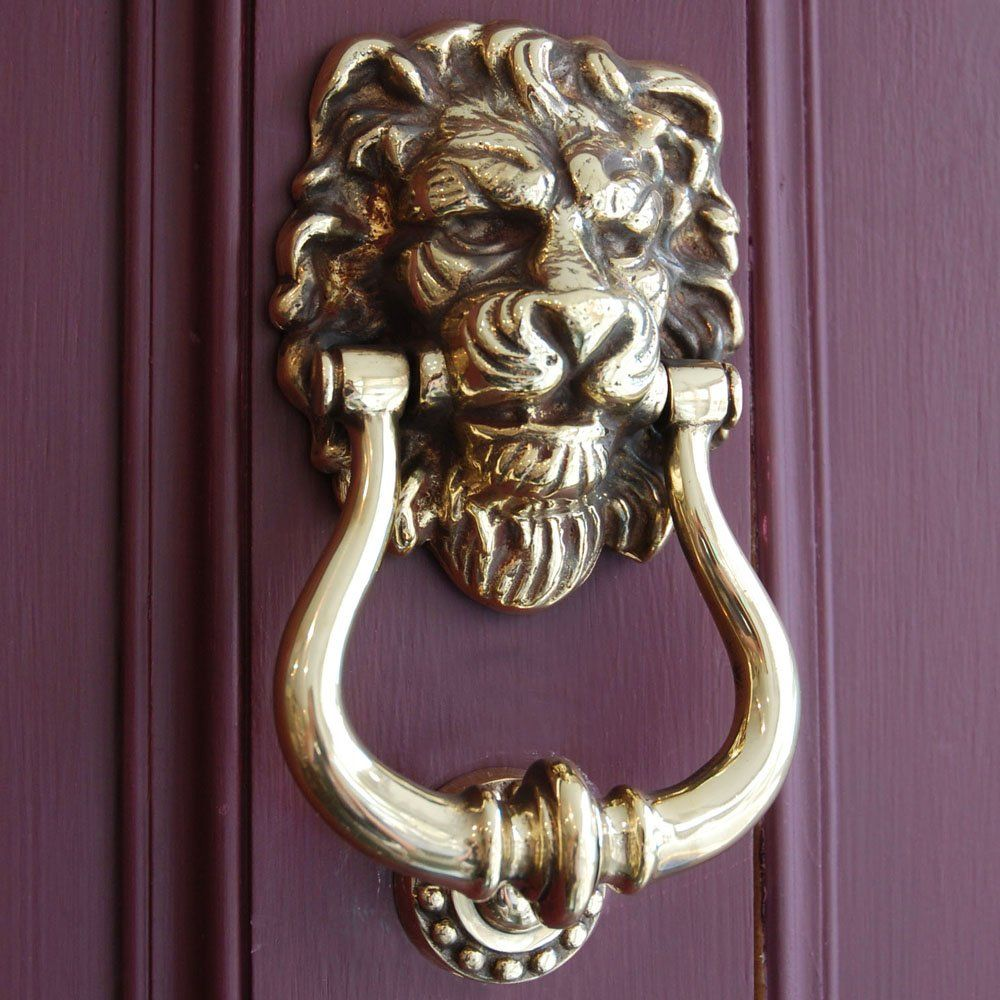 Extraordinary Door Knockers Decor Ideas. Beautiful Door Knockers Featuring  Yellow Stained Bronze .