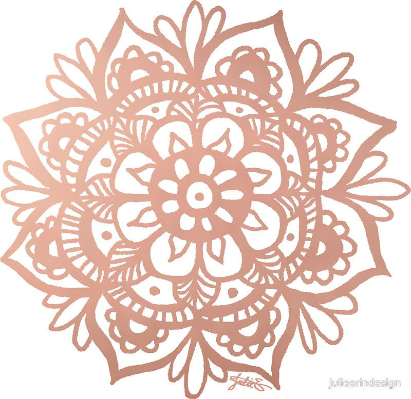 Rose Gold Mandala Sticker By Julieerindesign In 2019 Buy Rose