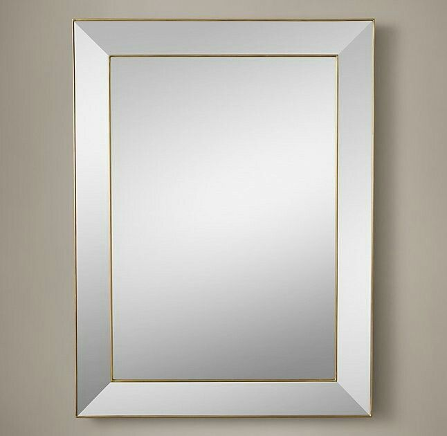 Living Room Mirrors Downstairs Bathroom Restoration Hardware Master Bath Brass High