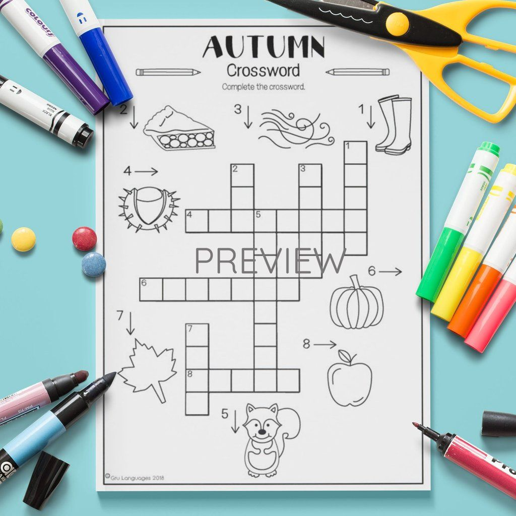 Seasons Autumn Crossword