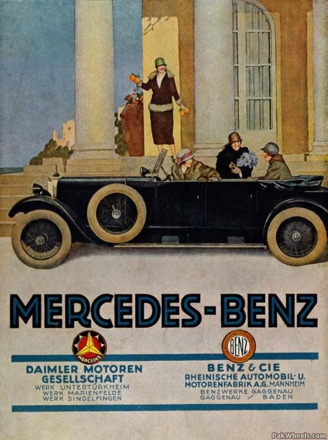History of MercedesBenz & 3 pointed Stars -543386 | OIdPublicity ...