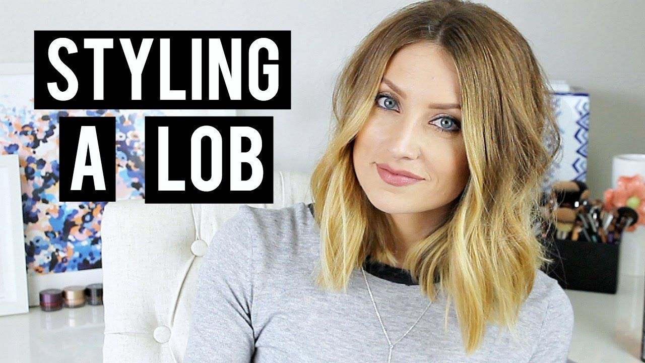 Aveda How To Style A Lob Haircut Quick And Easy Hair Tutorial Video With Kendra Atkins Lob Styling Lob Hairstyle Lob Haircut