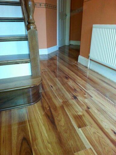 Hickory Gloss Finish Floor Www Murphylarkin Com Stair Renovation Stairs Refurbishment Laminate Flooring