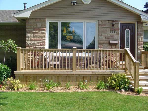 Uncovered front porch deck house remodel pinterest Front porch without roof