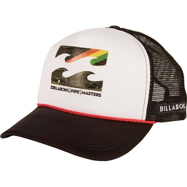 88759bfd4e2 Billabong Unisex Pipe Masters Slice Trucker Hat ( 12) ❤ liked on Polyvore  featuring men s