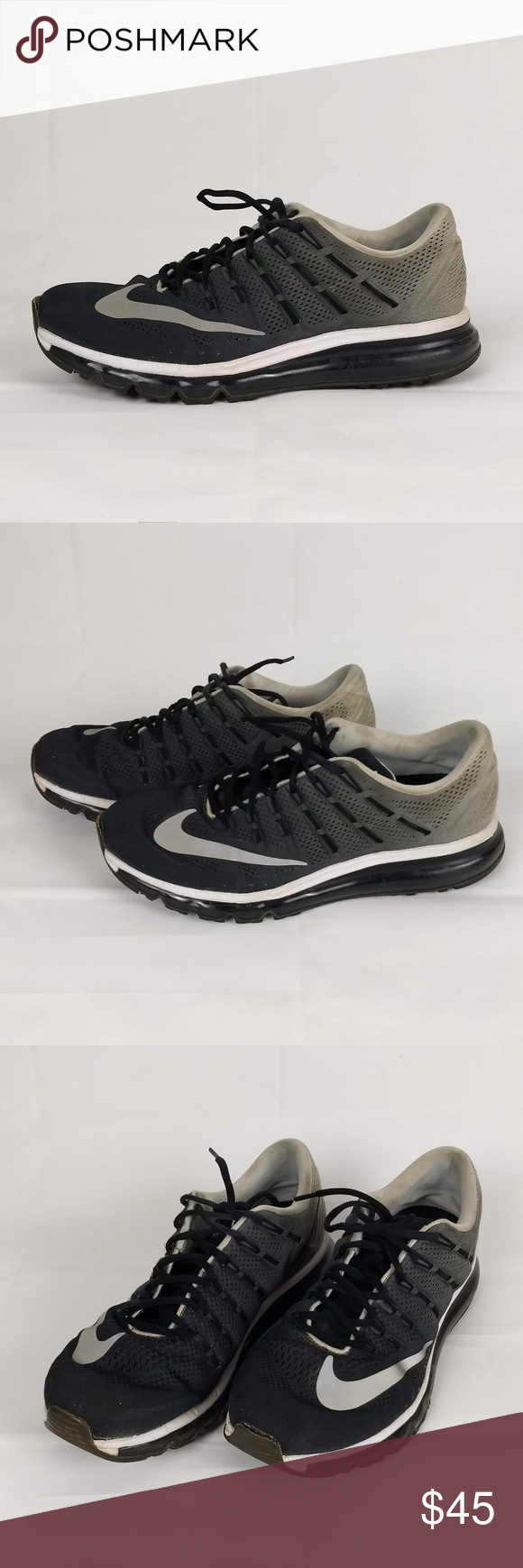 release date e4453 abb1b Nike Air Max 2016 Print Racer Shoes Size 11 Nike Air Max 2016 Print Shoes  Oreo Black   White 818135-020 US Mens Size 11  UK 10   EUR 45 Very good  preowned ...