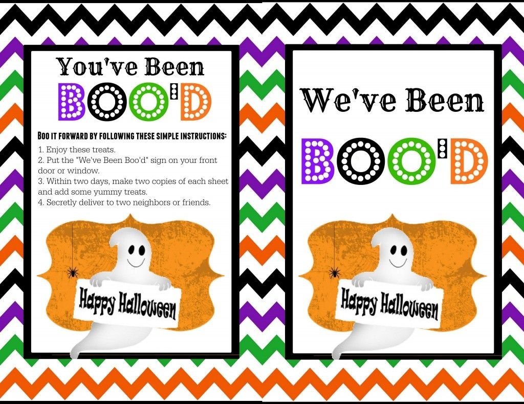 You've Been Boo'd Printable Youve been bood, Halloween