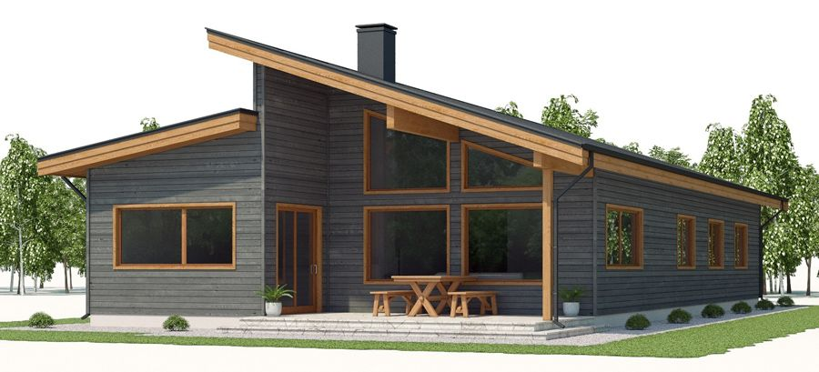 We Like The Design And Option For Clerestory Windows And A Good Amount Of South Facing Lighting House Plan Gallery Sip House Model House Plan
