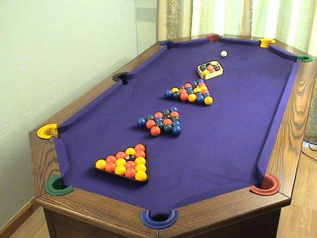 10 Weird Shaped Pool Tables 22 Words Pool Table Diy Pool