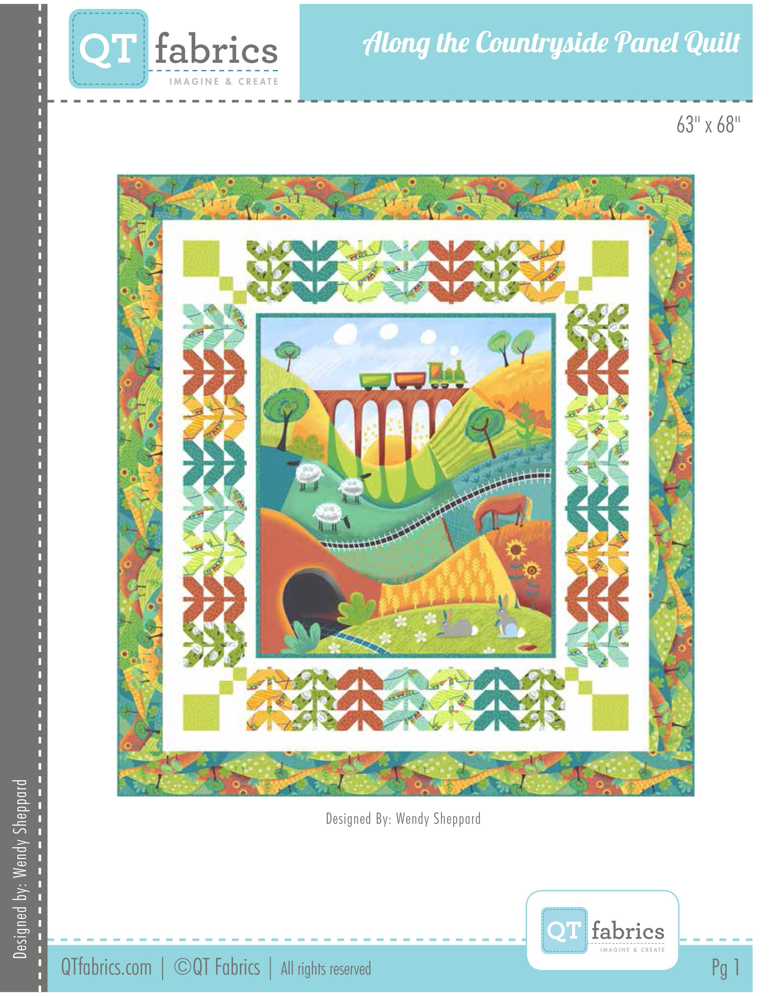 FREE project sheet with instructions for this cheerful quilt