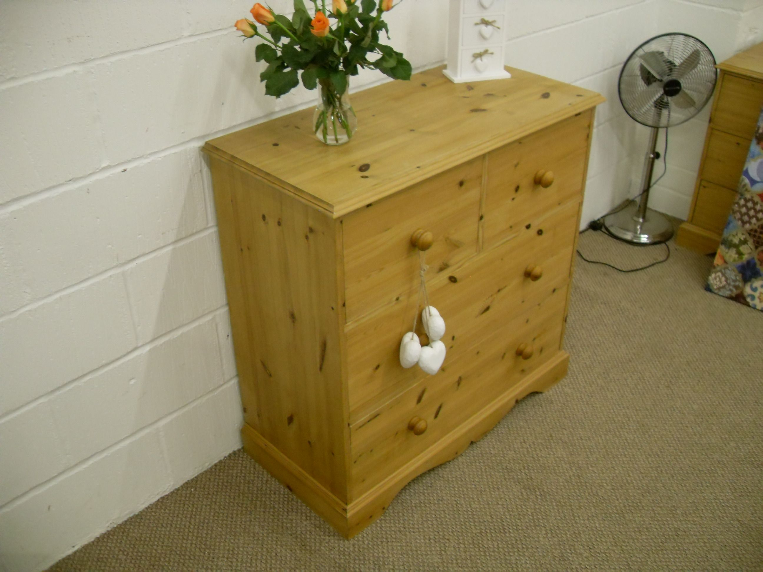LARGE SOLID PINE CHEST OF DRAWERS QUALITY THROUGHOUT - W 93 - D 46 - H 93 CM - £175 http://www.drabtofabfurniture.co.uk/