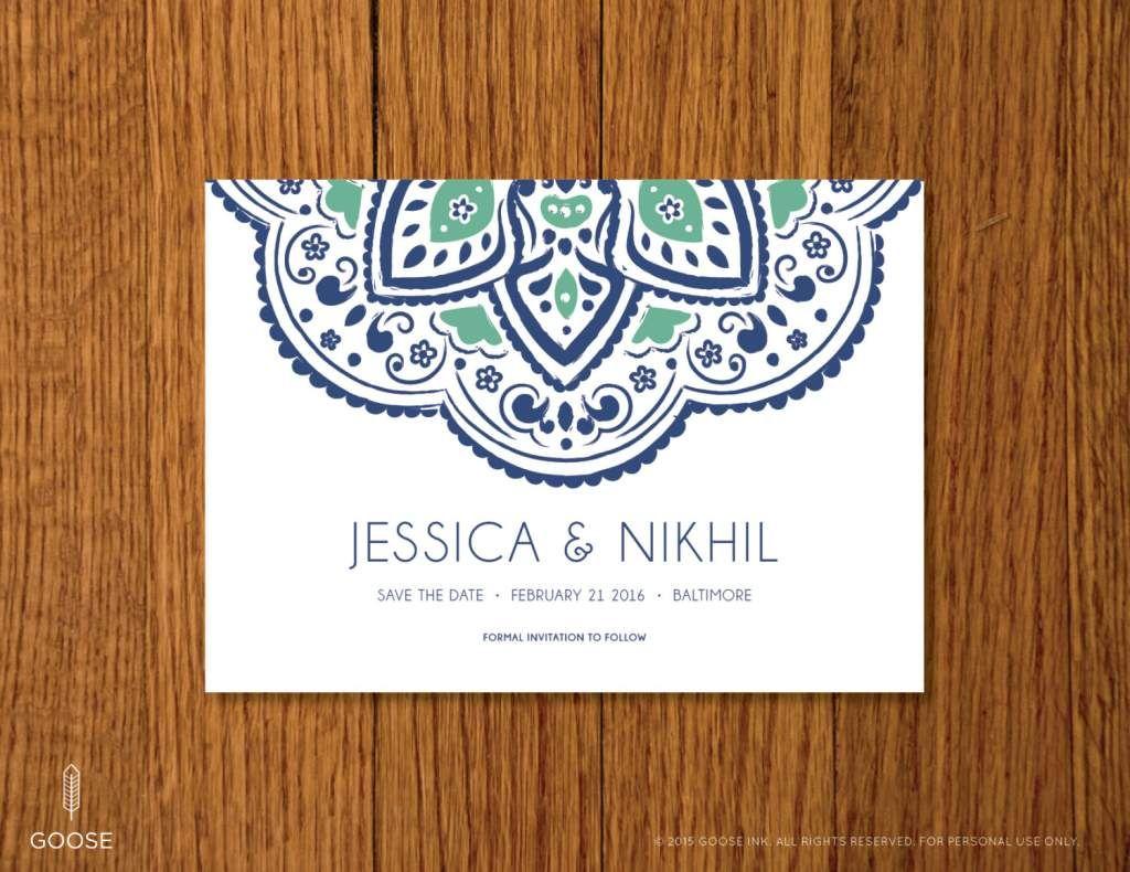 Free Printable Indian Wedding Invitation Templates Save