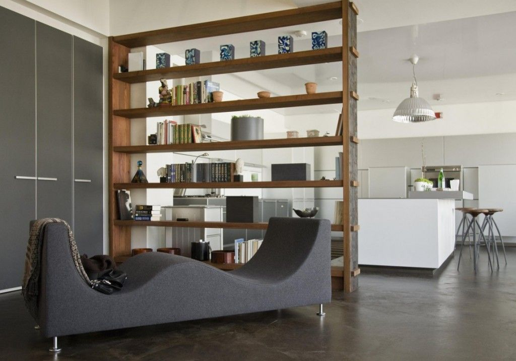 Movable Book Shelves Creates A Room Divider