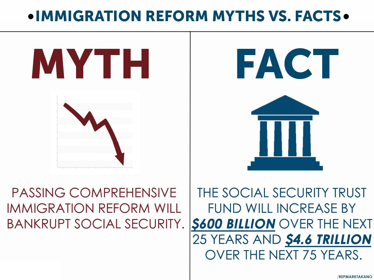 myth vs fact immigrationreform immigration reform fact immigrationreform