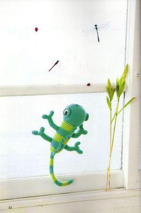 Amigurumi Chameleon - free crochet pattern   crochet   Pinterest ...
