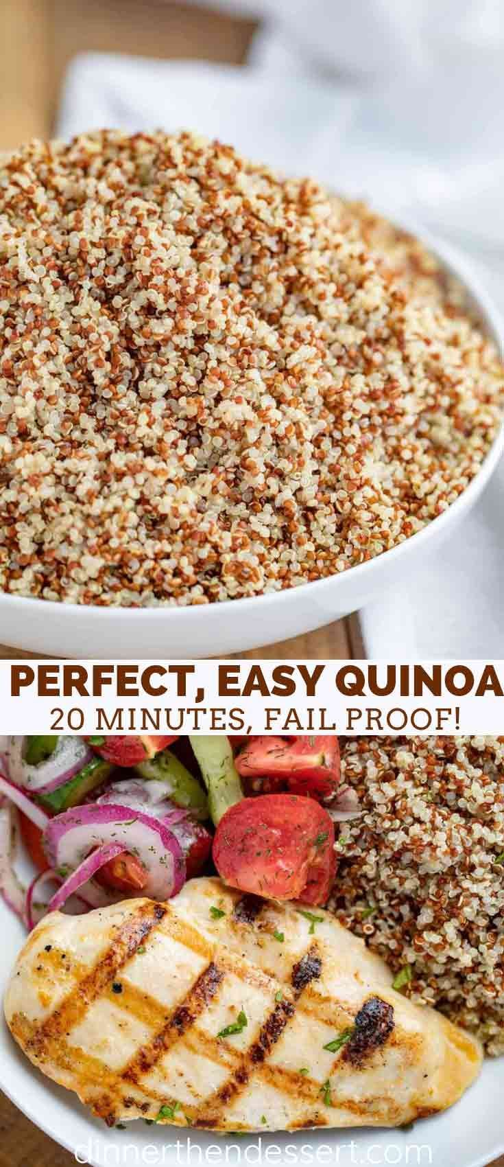 Side Dish How to Cook Quinoa the perfect easy way that will never fail you be bitter or over cook This is the classic healthy glutenfree side dish&nbs...