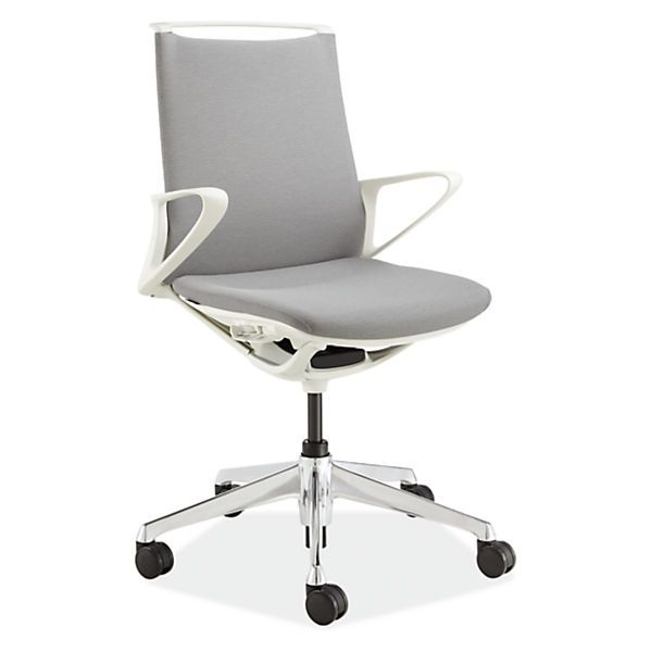 Plimode Office Chair In White Modern Office Chairs Task Chairs Modern Office Furniture Modern Office Chair Office Furniture Modern White Modern Office