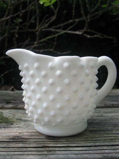 Hobnail Milk Glass