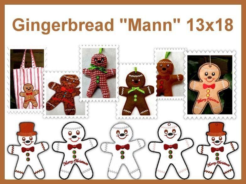 Stickdatei, 13x18, Lebkuchen, Weihnachten, ith von Grete vom Ländle ...