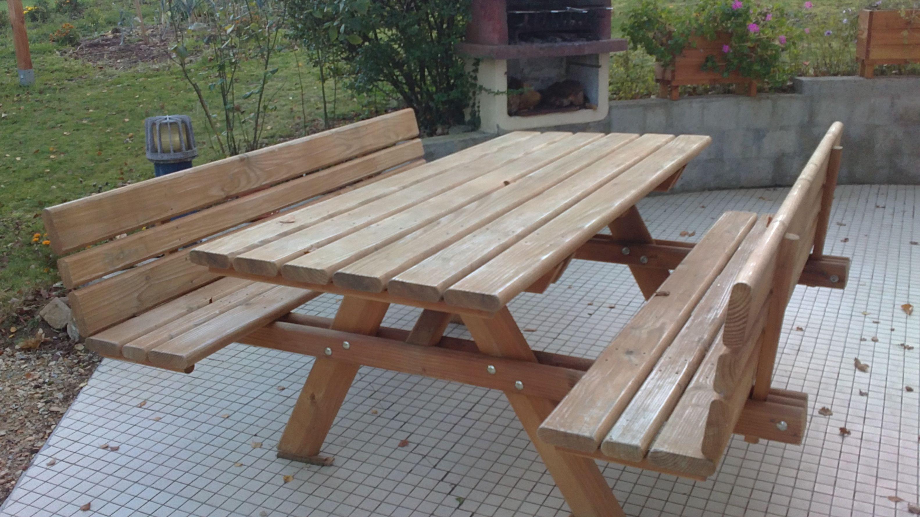 Intermarche Salon De Diy Picnic Table Outdoor Tables Outdoor Decor