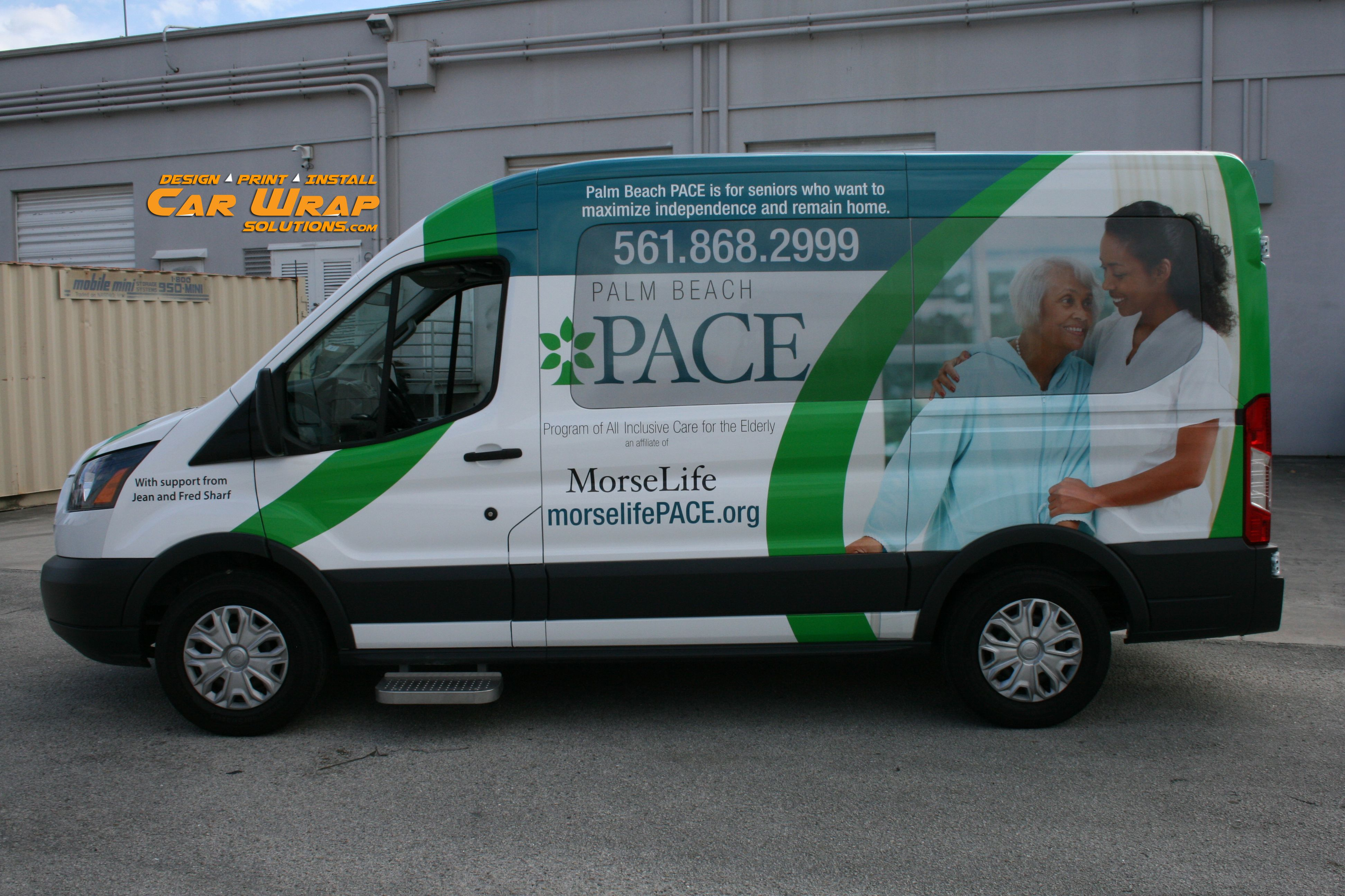 a7c42a85e2 Ford Transit Passenger Van Marketing Wrap for Health Care Industry  Businesses. Graphic Design to Install