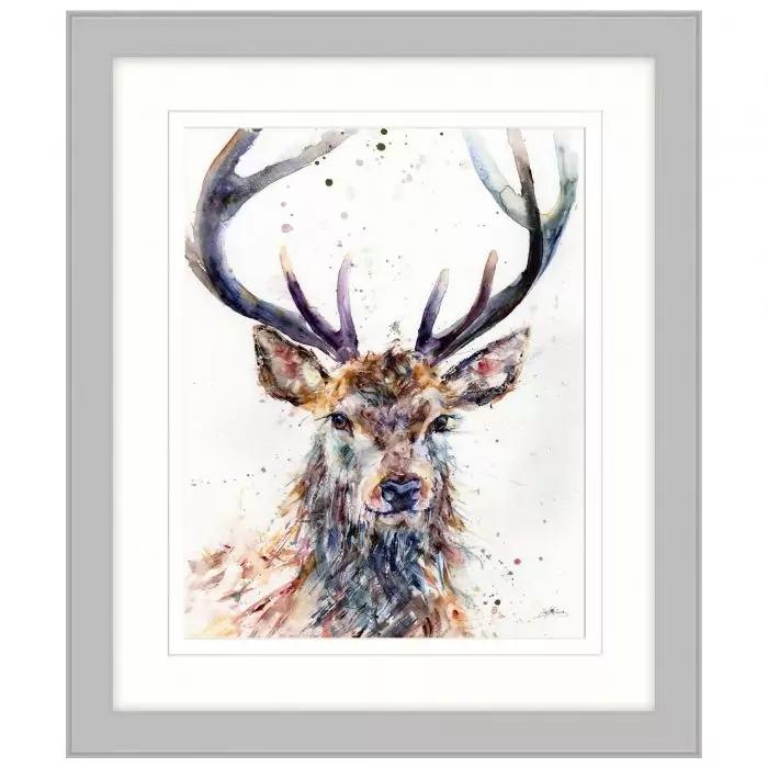Majestic Stag by Lisa Jayne Holmes Framed Print Framed