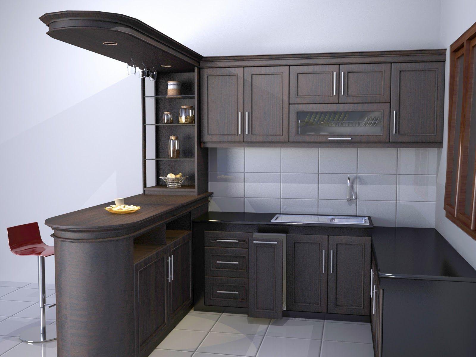 Desain Dapur Mewah Modern 3d Cek Bahan Bangunan