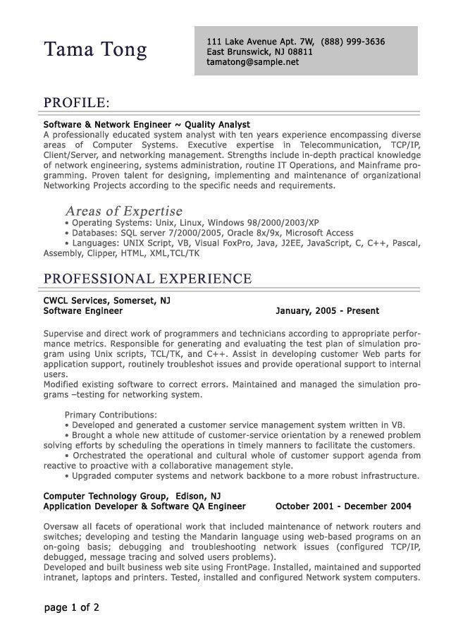 Problem Solving Resume Professional Resume Template E Commercewordpress  Resume Examples .