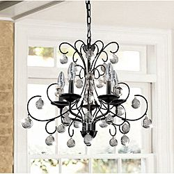 Messina 5 light wrought iron and crystal chandelier wrought iron 14849 messina 5 light wrought iron and crystal chandelier overstock shopping aloadofball Gallery