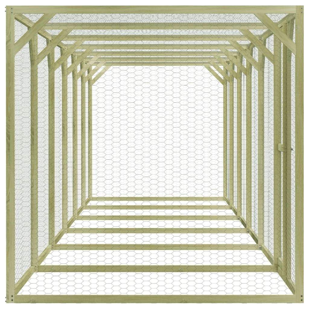 Chicken Cage 1.5x9x1.5 m Impregnated Pinewood